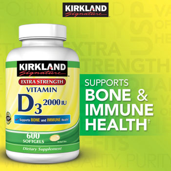 Kirkland Signature™ Vitamin D3 2000 IU, 600 Softgels