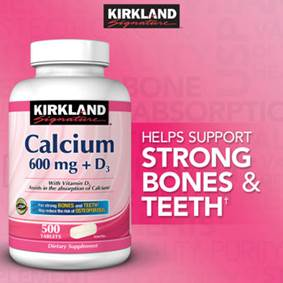 Kirkland Signature™ Calcium 600 mg + D3, 500 Tablets