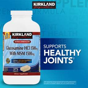 Kirkland Signature™ Glucosamine with MSM, 375 Tablets
