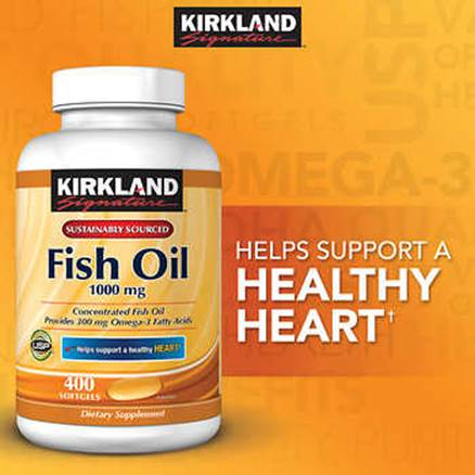 Description: Description: Description: Description: Description: Kirkland Signature Fish Oil 1000 mg., 400 Softgels