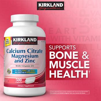 Description: Description: Description: Description: Description: Kirkland Signature� Calcium Citrate 500 mg, 500 Tablets